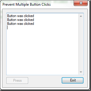 Button Multiple Clicks