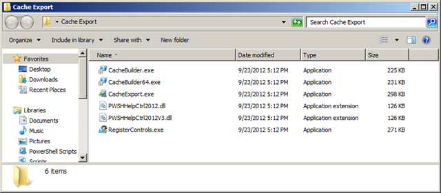 Cache Export Tool