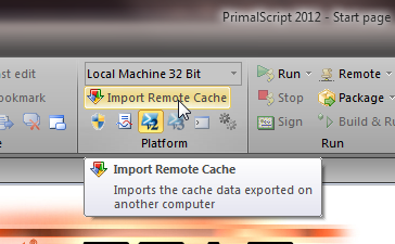 Import remote cache in PrimalScript