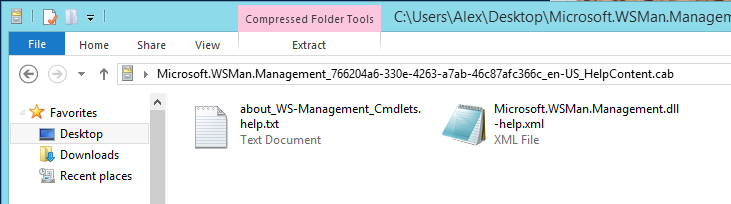 Save-Help creates two files in the specified folder