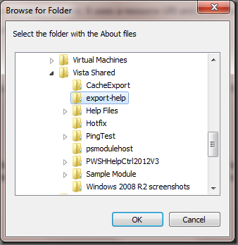 Import About files...