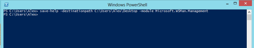 Windows PowerShell console: Save-help