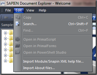 Import Module/Snapin XML help file