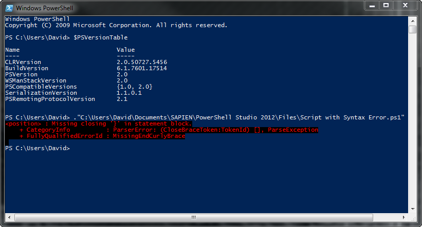 PowerShell V2 Console: (after installing v3), it no longer displays the position