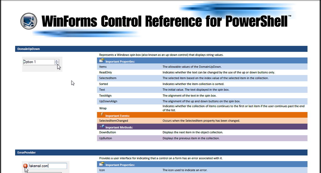 Control Reference Screenshot
