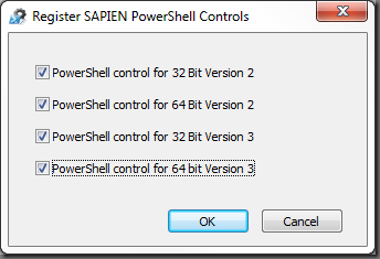register the dependent PowerShell controls