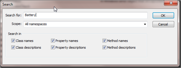 WMI Explorer Search functionality