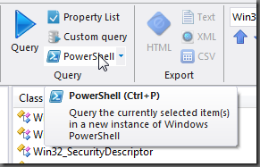 run the query in Windows PowerShell