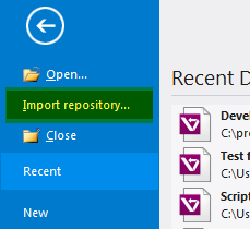 Import repository