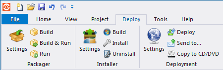 Deploy Tab: Installer Group