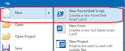create a new PowerShell script file
