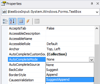 enable auto-complete