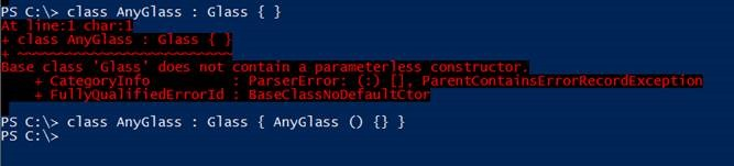 does not contain a parameter-less constructor