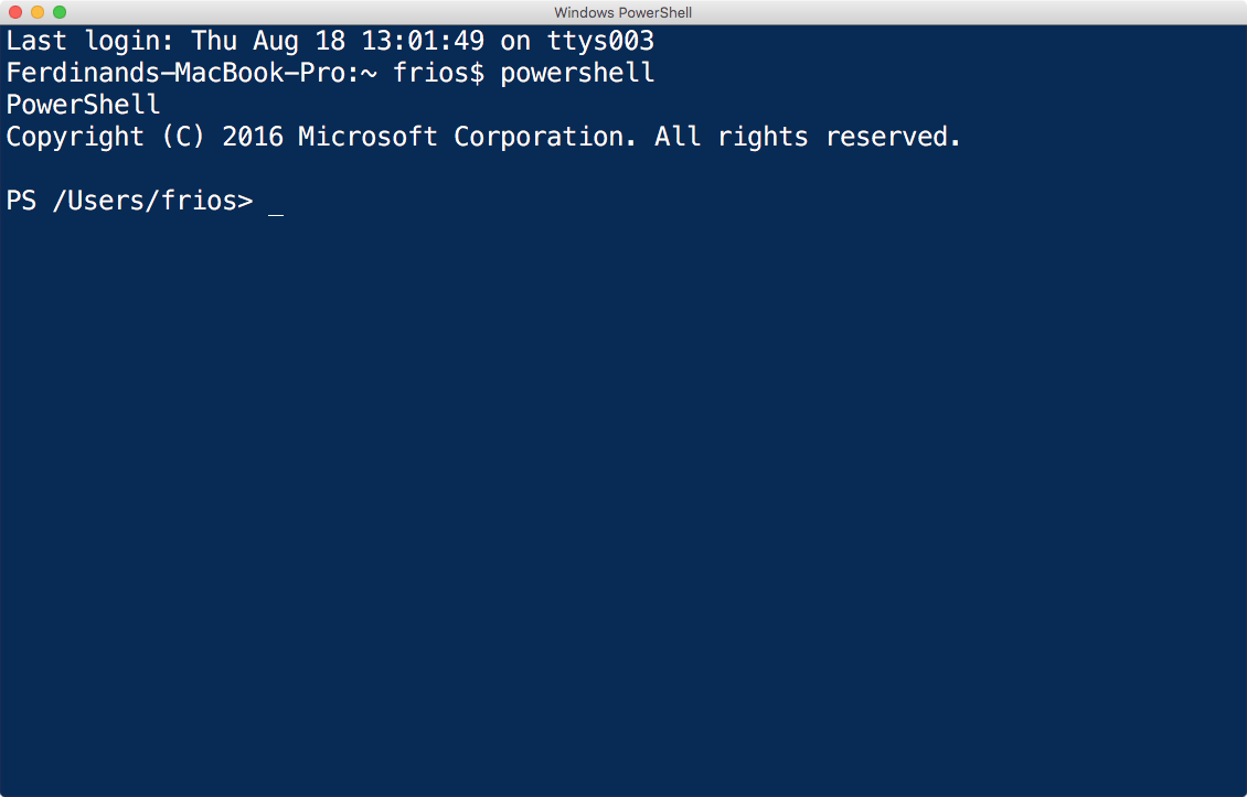 PowerShell Terminal Session